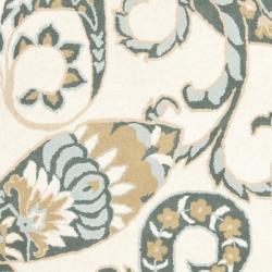 Safavieh Handmade Chatham Gardens Ivory New Zealand Wool Rug (4' x 6') - Thumbnail 2