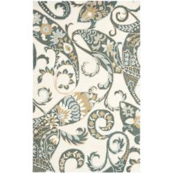 Safavieh Handmade Chatham Gardens Ivory New Zealand Wool Rug - 4' x 6' - Thumbnail 0