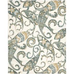 Safavieh Handmade Chatham Gardens Ivory New Zealand Wool Rug - 8' x 10' - Thumbnail 0