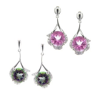 Pearlz Ocean Topaz and Cubic Zirconia Dangle Earrings Jewelry for Womens