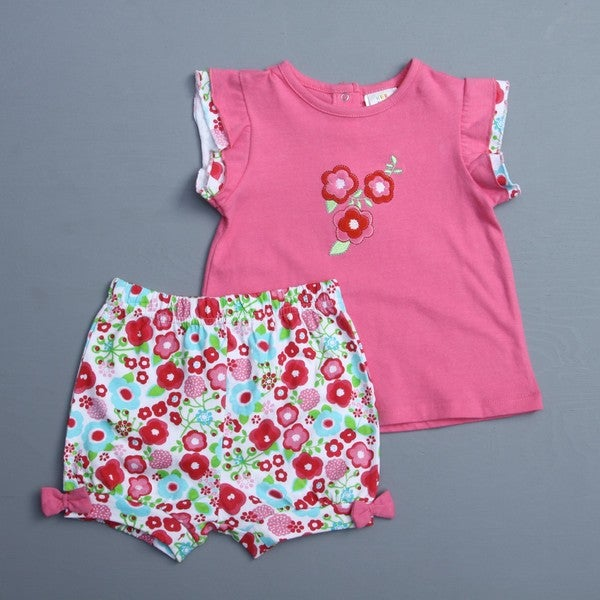 Absorba Toddler Girl's Flower Top and Shorts Set
