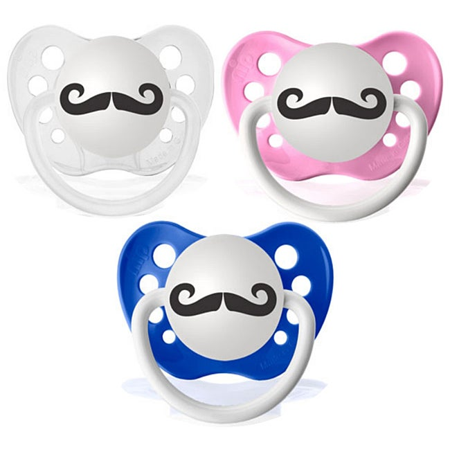 Personalized Pacifiers Handlebar Mustache Pacifier
