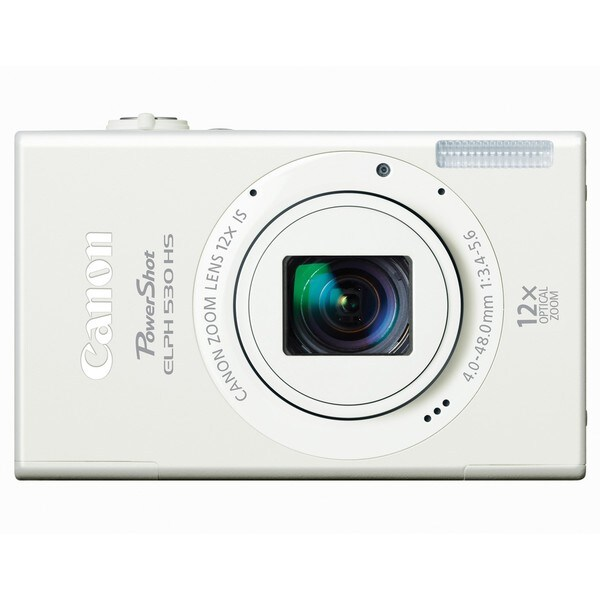 Canon PowerShot ELPH 530 HS 10MP White Digital Camera