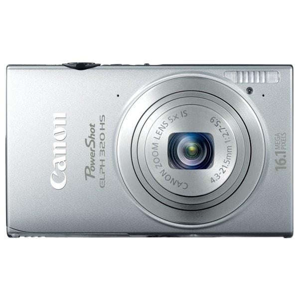 Canon PowerShot ELPH 320HS 16.1MP Silver Digital Camera