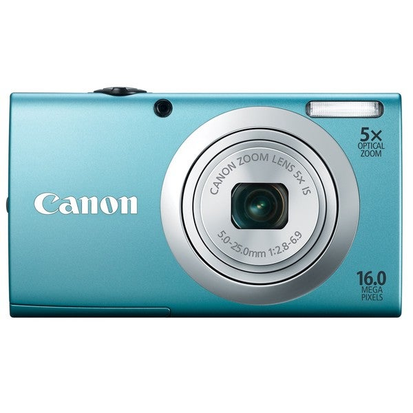 Canon PowerShot A2400IS 16MP Blue Digital Camera