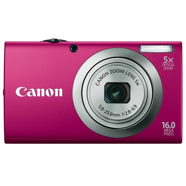 Canon Powershot A2300IS 16MP Red Digital Camera