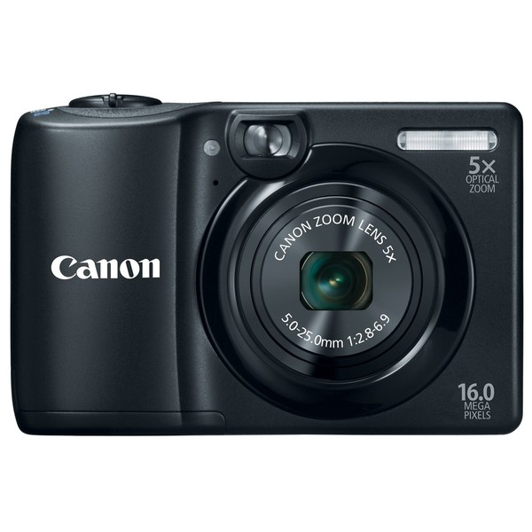 Canon PowerShot A1300 16MP Black Digital Camera