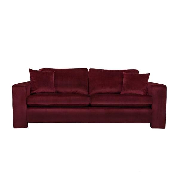 Handy Living Angelo Cabernet Red Velvet Sofa