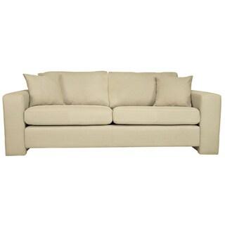 Handy Living Angelo Washed Khaki Tan Sofa