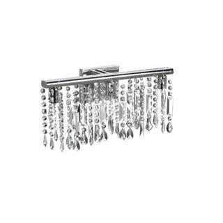 Chrome Crystal 3-light Wall Sconce Bathroom Vanity Fixture