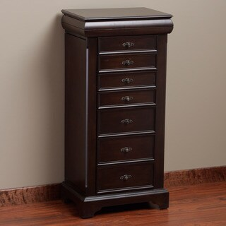 Louis 7-drawer Locking Jewelry Armoire