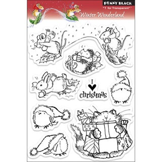 Penny Black Winter Wonderland 8-piece Clear Acrylic Stamp Set (1 Sheet)