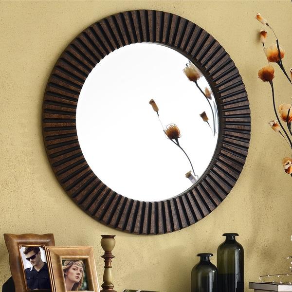 Design Craft Hecate Bronze Wall Mirror