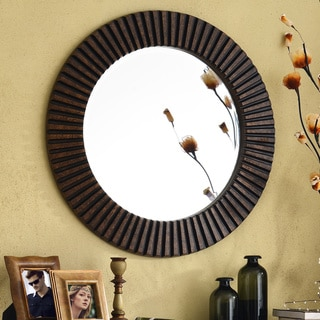 Design Craft Hecate Bronze Wall Mirror
