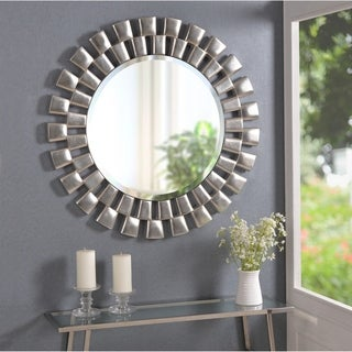 "Link to Hera 36-inch Silver Sunburst Wall Mirror - 36"" Dia. Similar Items in Mirrors"