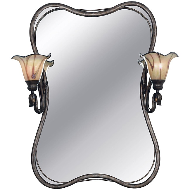 shamash tuscan silver 2 light vanity mirror free shipping today overstock. Black Bedroom Furniture Sets. Home Design Ideas