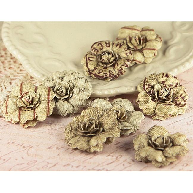 Parchment Petals 'Vintage' Paper Flowers (Pack of 10)