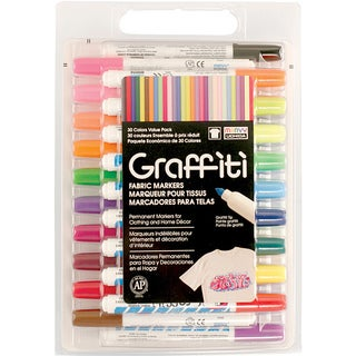 Graffiti Fabric Marker Value Set (Pack of 30)