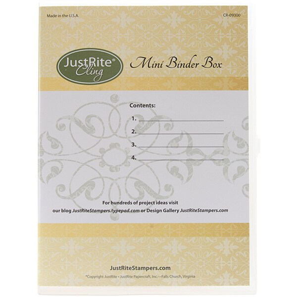 JustRite Stampers Stamp Binder Box