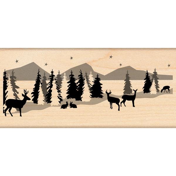 Penny Black 'Snowscape' Rubber Stamp