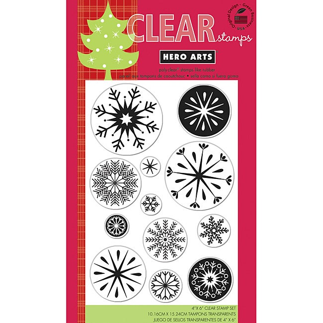 Hero Arts 'Snowflakes' Clear Stamps