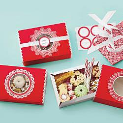 Martha Stewart Red Lace Snowflake Treat Boxes (Pack of 6) - Thumbnail 1