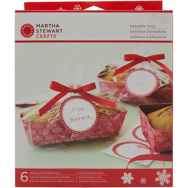 Martha Stewart Snowflake Bakeable Trays (Pack of 6)