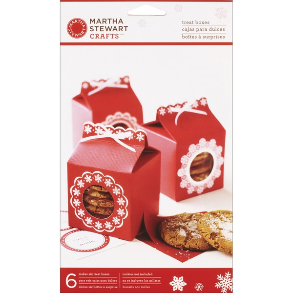 Martha Stewart Snowflake WindowTreat Boxes (Pack of 6)