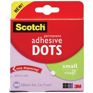 Scotch 3M Small Adhesive Dots (Pack of 300)