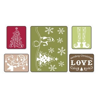 Sizzix Textured Impressions 'Sending Christmas Love' Embossing Folders (Pack of 5)