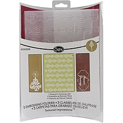Sizzix Textured Impressions 'Season's Greetings' Embossing Folders