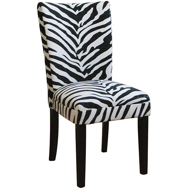Zebra Print Parsons Chairs Set Of 2 Free Shipping