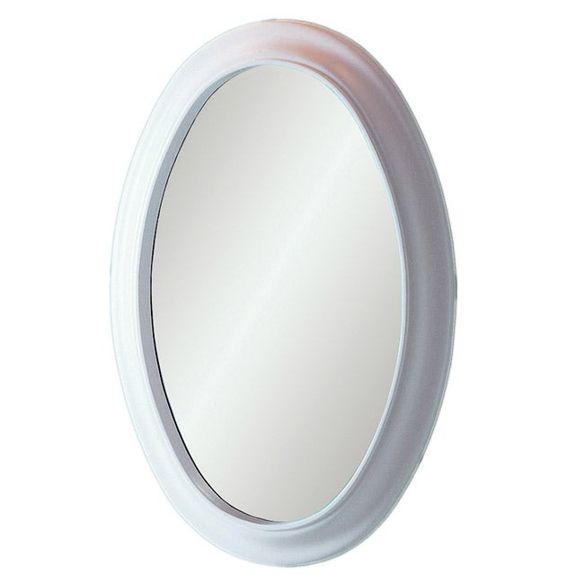 Decolav White Waterfront Oval Mirror