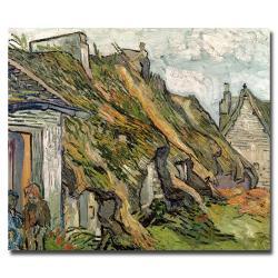 Vincent van Gogh 'Cottages in Chaponval, Auvers-sur-Oise' Horizontal