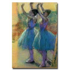 Edgar Degas 'Two Blue Dancers' Canvas Art