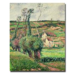 "24"" x 16"" Camille Pissarro 'The Cabbage Slopes, Pontoise, 1882' Canvas Art"