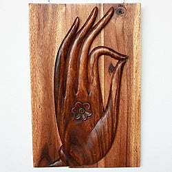 2-piece Chestnut Oil Mudra Hand Panel (Thailand)