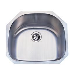 Stainless Steel 23-inch Undermount Kitchen Sink - Silver