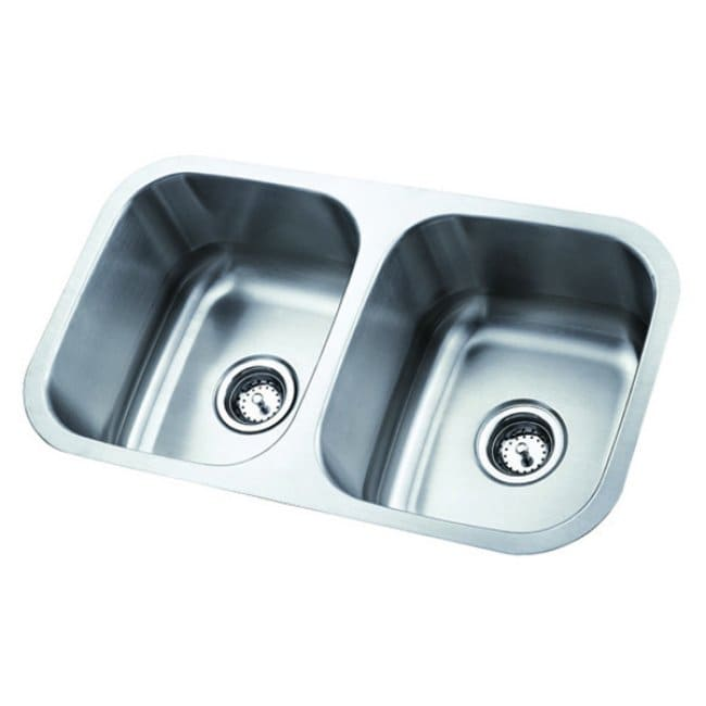 Stainless Steel 31-inch Undermount Double Bowl Kitchen Sink - Thumbnail 0