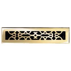 Brass Elegans Victorian 2.25 x 14 Brass Floor Register
