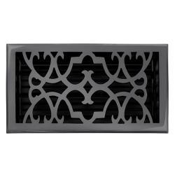 """Brass Elegans Victorian 6"""" x 10"""" Dark Bronze Brass Floor Register"""