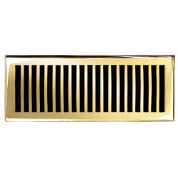 Brass Elegans Contemporary 4 x 12 Polished Brass Floor Register