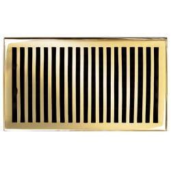 Brass Elegans Contemporary 6 x 10 Brass Floor Register
