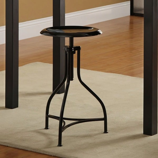 Pavina Black Iron Adjustable Barstool