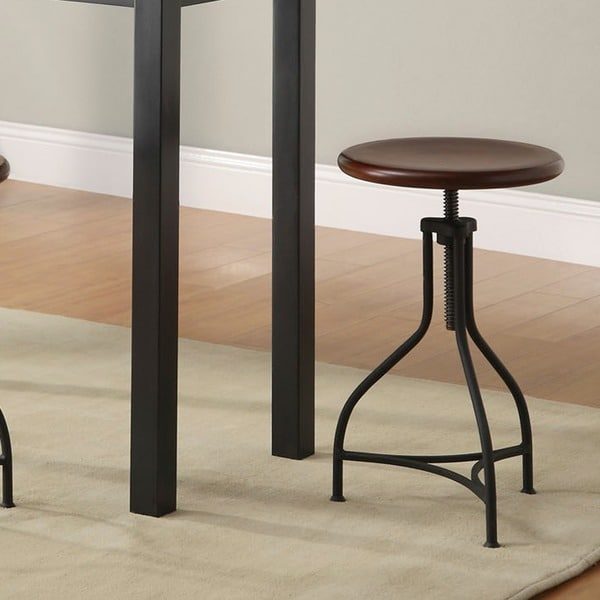 Wood/Metal Adjustable Pavina Barstool