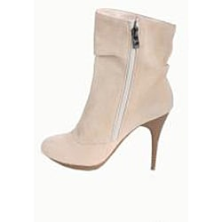 Italina Women's Mid-calf Camel Rhinestone Boots