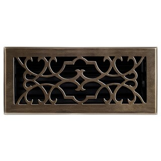 Brass Elegans Victorian Brass Floor Register (4 x 10)