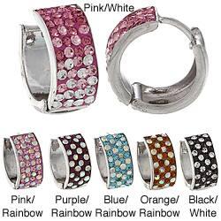 La Preciosa Sterling Silver Crystal Cuff Earrings|https://ak1.ostkcdn.com/images/products/6542604/La-Preciosa-Sterling-Silver-Crystal-Cuff-Earrings-P14124184a.jpg?impolicy=medium