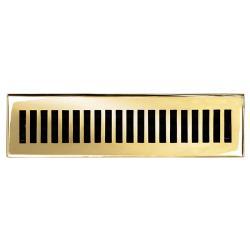 Brass Elegans Contemporary 2.25 x 12 Brass Floor Register