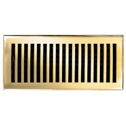 Brass Elegans Contemporary 4 x 10 Polished Brass Floor Register
